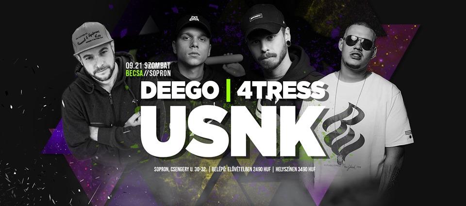 Usnk, Deego, 4tress Koncert!